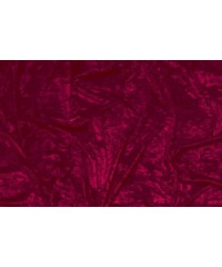 1318 Crushed velvet burgundy