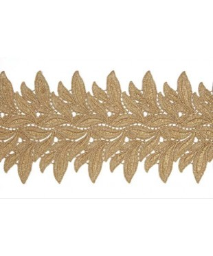 1801 Lucy lace ribbon light gold