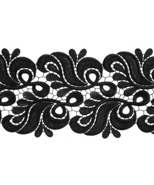 1810 Holly lace ribbon black