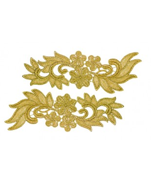 1970 Pair lace gold